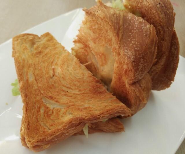Danish bread sandwich