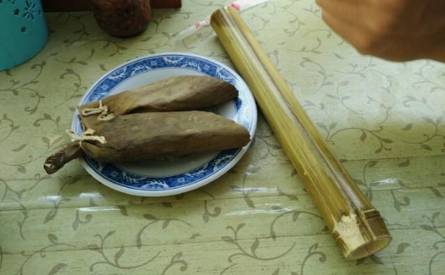 Banana rice and bamboo rice