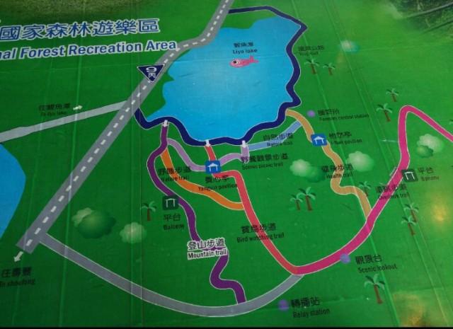 Trails around Liyu Lake