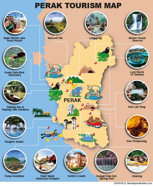 Perak tourist map