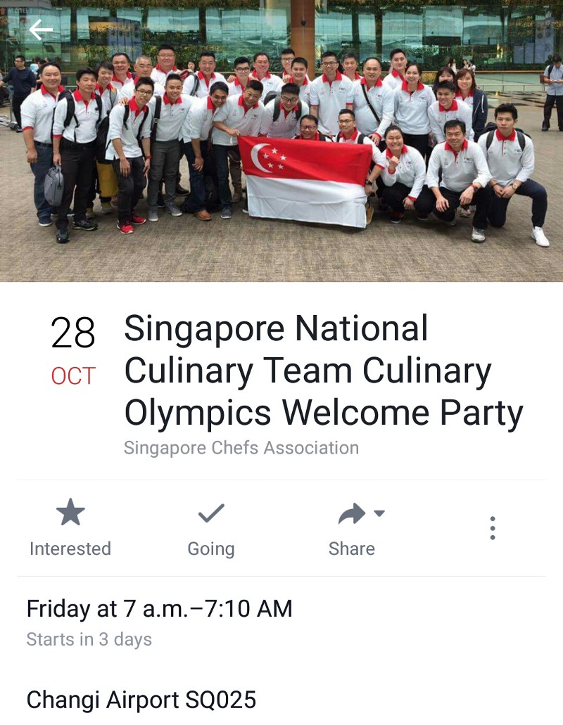 Singapore National Culinary Team Welcome Party