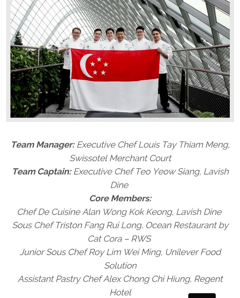 Singapore National Culinary Team 2016