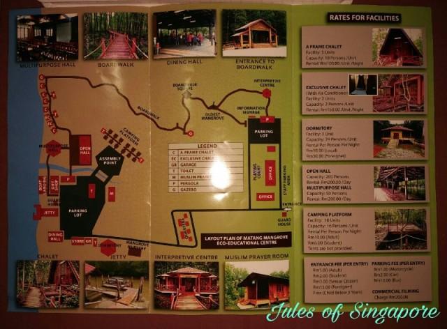 Matang mangrove boardwalk kuala Sepetang map
