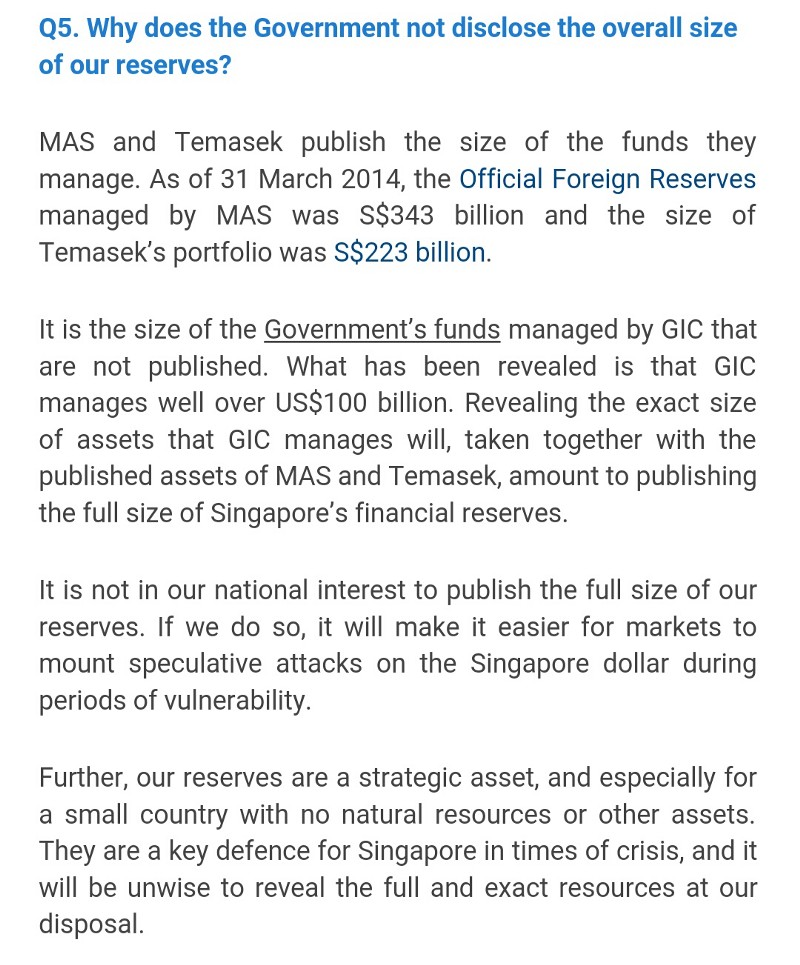Gov.sg bot singapore reserves